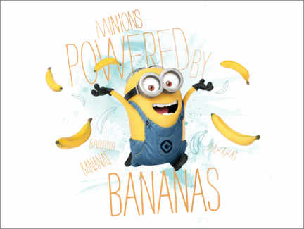 Póster  Minions - Banana Power