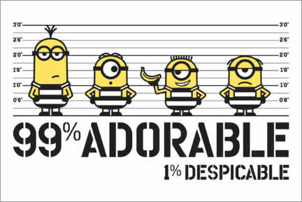 Póster  Minions - Adorable