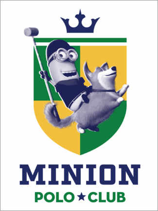 Póster Minion Polo Club