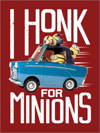 Póster  I honk for minions