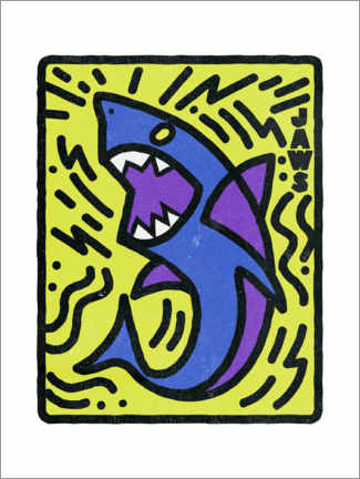 Póster  Tiburón (Jaws) - Keith Haring Style
