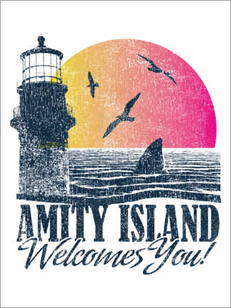 Póster  Amity Island Welcomes You