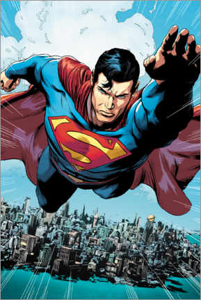Póster  Superman en acción