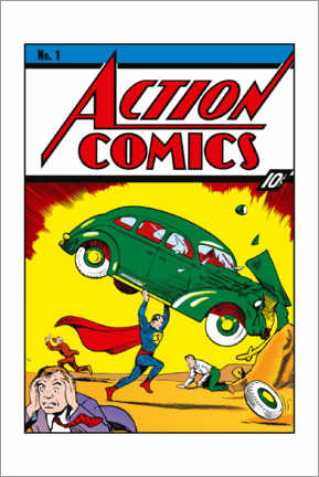 Póster  Superman Action Comics No.1