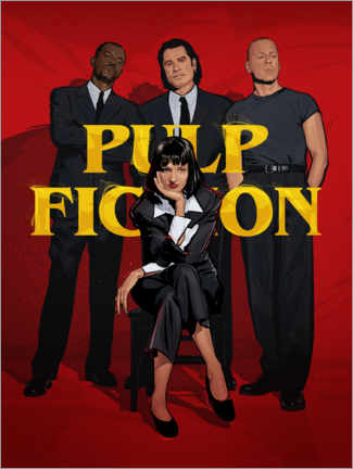 Póster Pulp Fiction Gang