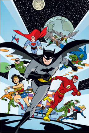 Póster  Justice League Hero Run