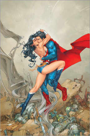 Póster  Superman & Wonder Woman