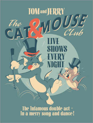 Cuadro de PVC  Tom y Jerry - Cat and Mouse Club