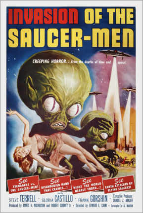 Lienzo  Invasion of the Saucer men - Entertainment Collection