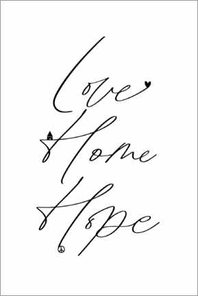 Póster Love Home Hope