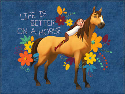 Póster  Life is better on a horse