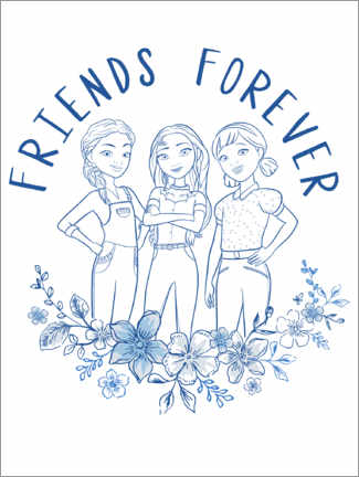 Póster  Friends forever