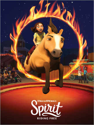 Cuadro de metacrilato  Spirit Riding Free - Arena
