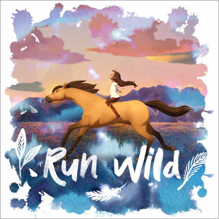Lienzo  Run wild II