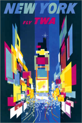 Cuadro de metacrilato  Nueva York, Fly TWA - William P. Gottlieb/LOC