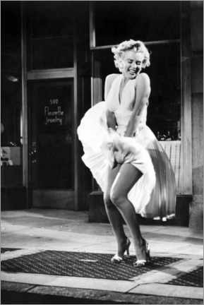 Cuadro de metacrilato  Marilyn - The Seven Year Itch iconic pose - Celebrity Collection