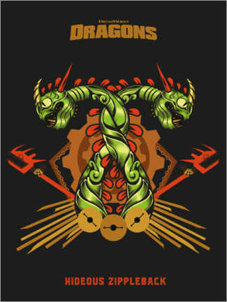 Póster  Hideous Zippleback - Tribal