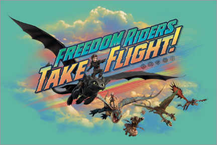 Póster  Freedom riders - take flight!