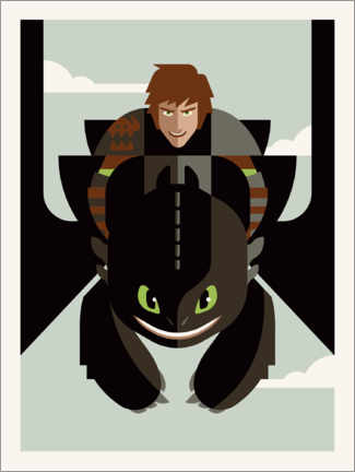 Póster  How to Train Your Dragon - Minimal Design