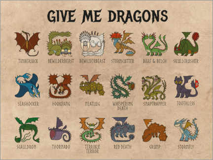 Lienzo  Give me dragons