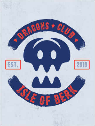 Póster  Dragons Club Berk