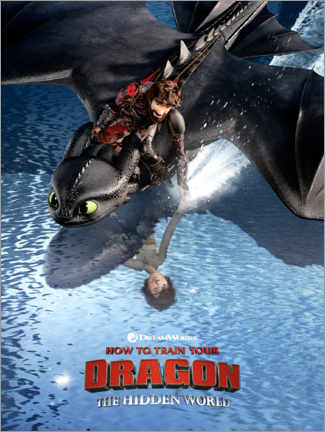 Póster  The Hidden World - Hiccup & Toothless