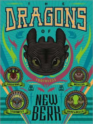 Póster  The Dragons of New Berk
