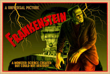 Póster  Frankenstein - Science created monster