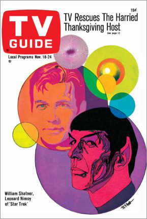 Cuadro de madera  Star Trek - Portada retro 1967 - TV Guide