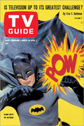 Póster Batman - TV Guide Cover 1966
