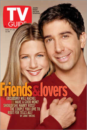 Póster  Rachel and Ross - Friends & Lovers - TV Guide