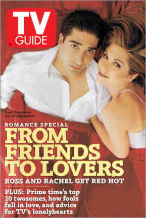 Póster  Ross and Rachel - Friends to lovers - TV Guide