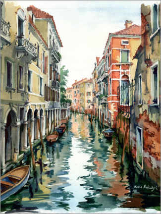Póster Canal veneciano