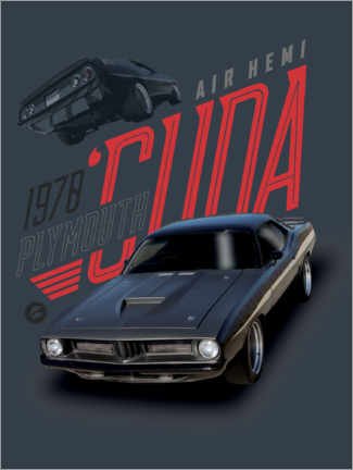 Póster  1978 Plymouth Barracuda