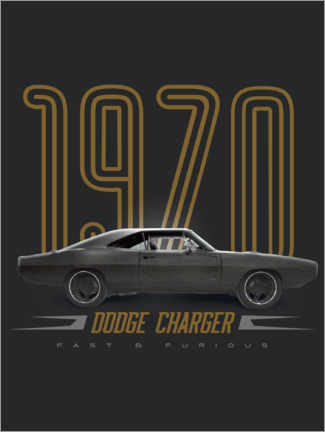 Póster  Dodge Charger 1970
