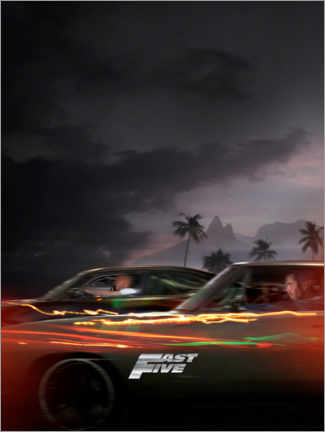 Póster  Fast Five - Racing