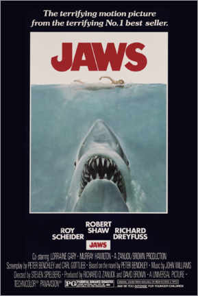 Póster  Jaws - Retro Advertise