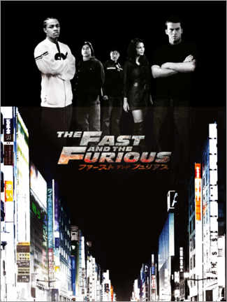 Póster  The Fast and the Furious - Tokyo drift