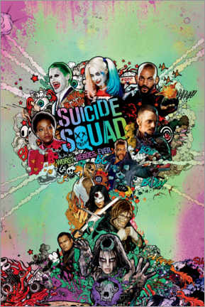 Póster  Suicide Squad - Worst Heroes Ever