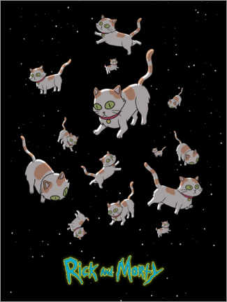 Cuadro de metacrilato  Rick and Morty - Space Cats