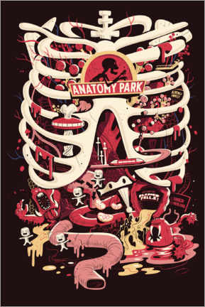 Póster  Rick and Morty - Anatomy Park