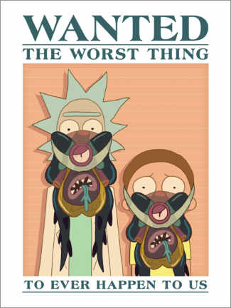 Póster  Rick and Morty - The worst thing