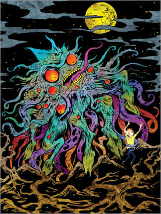 Póster  Rick and Morty - Monster Moon