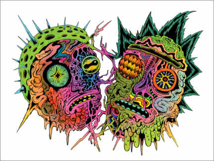 Póster  Psychedelic zombies