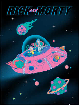 Póster  Rick and Morty - Space Ship