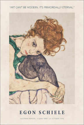 Póster  Egon Schiele - Primordially eternal - Museum Art Edition