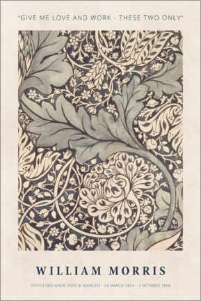 Póster William Morris - Love and work