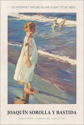 Póster  Joaquín Sorolla y Bastida - To interpret nature - Museum Art Edition