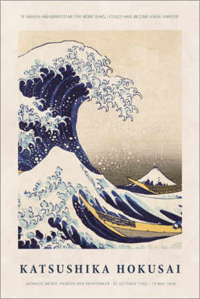 Póster  Katsushika Hokusai - Five more years - Museum Art Edition