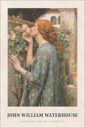 Póster  John William Waterhouse - The Soul of the Rose - Museum Art Edition